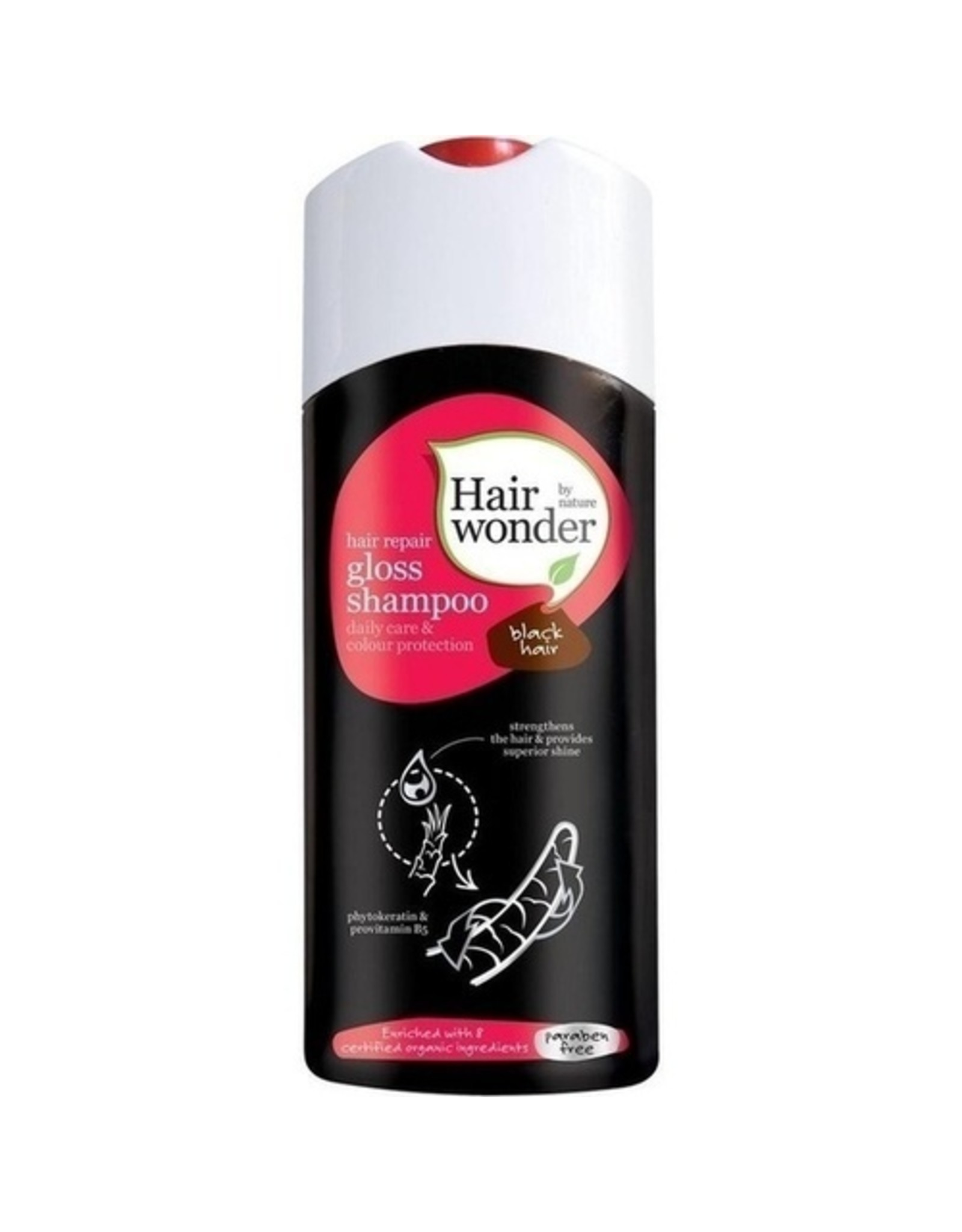 Hairwonder Gloss Shampoo Black Hair 200ml
