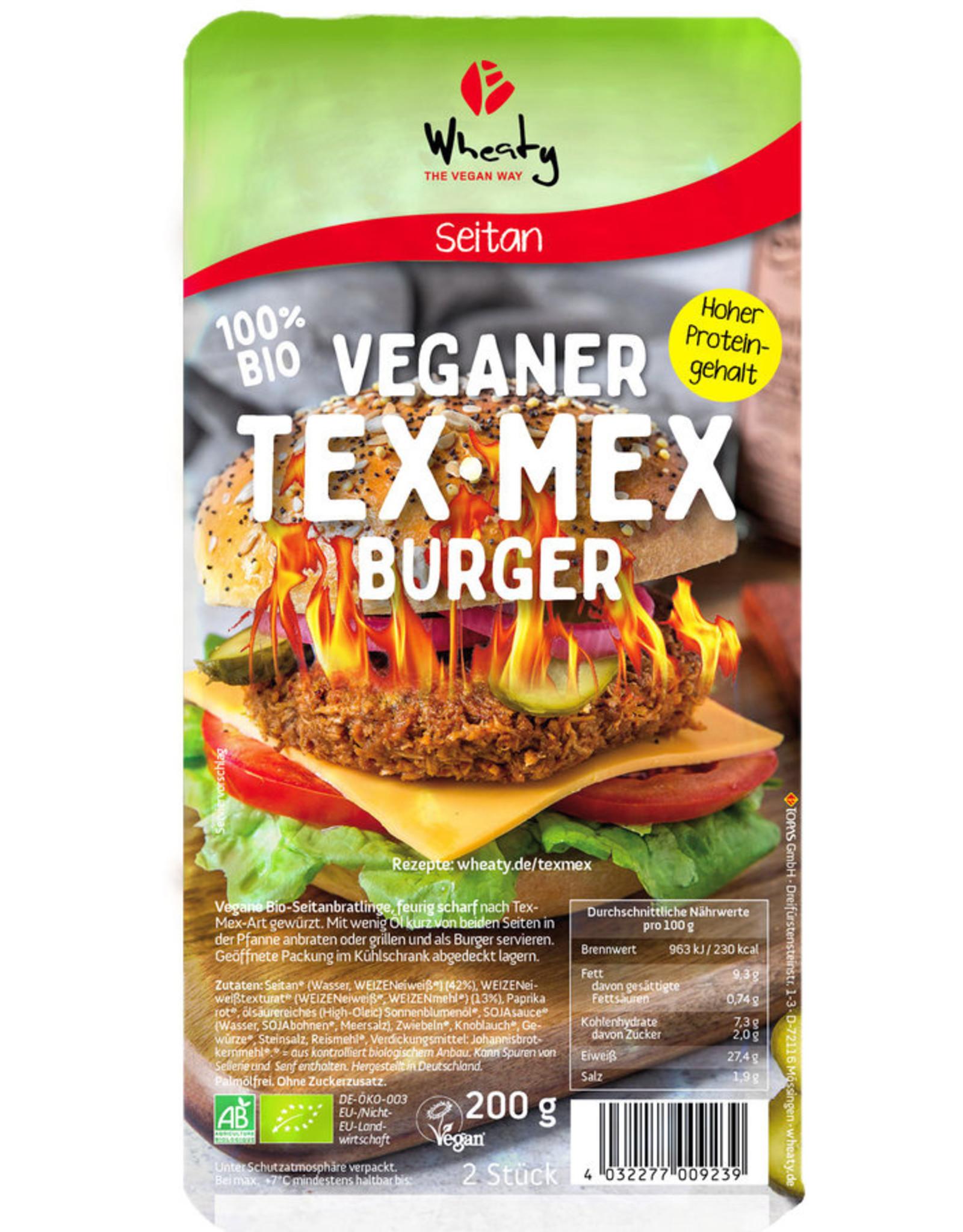 WHEATY Hamburguesa vegetariana Tex-Mex 200g