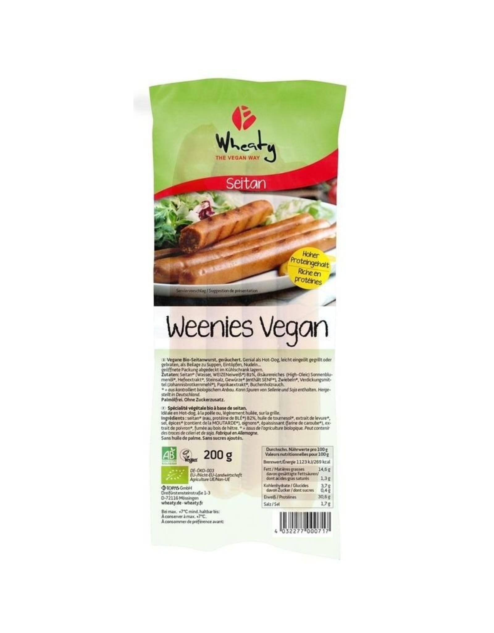 WHEATY Salchichas de Seitán Veganas 200g