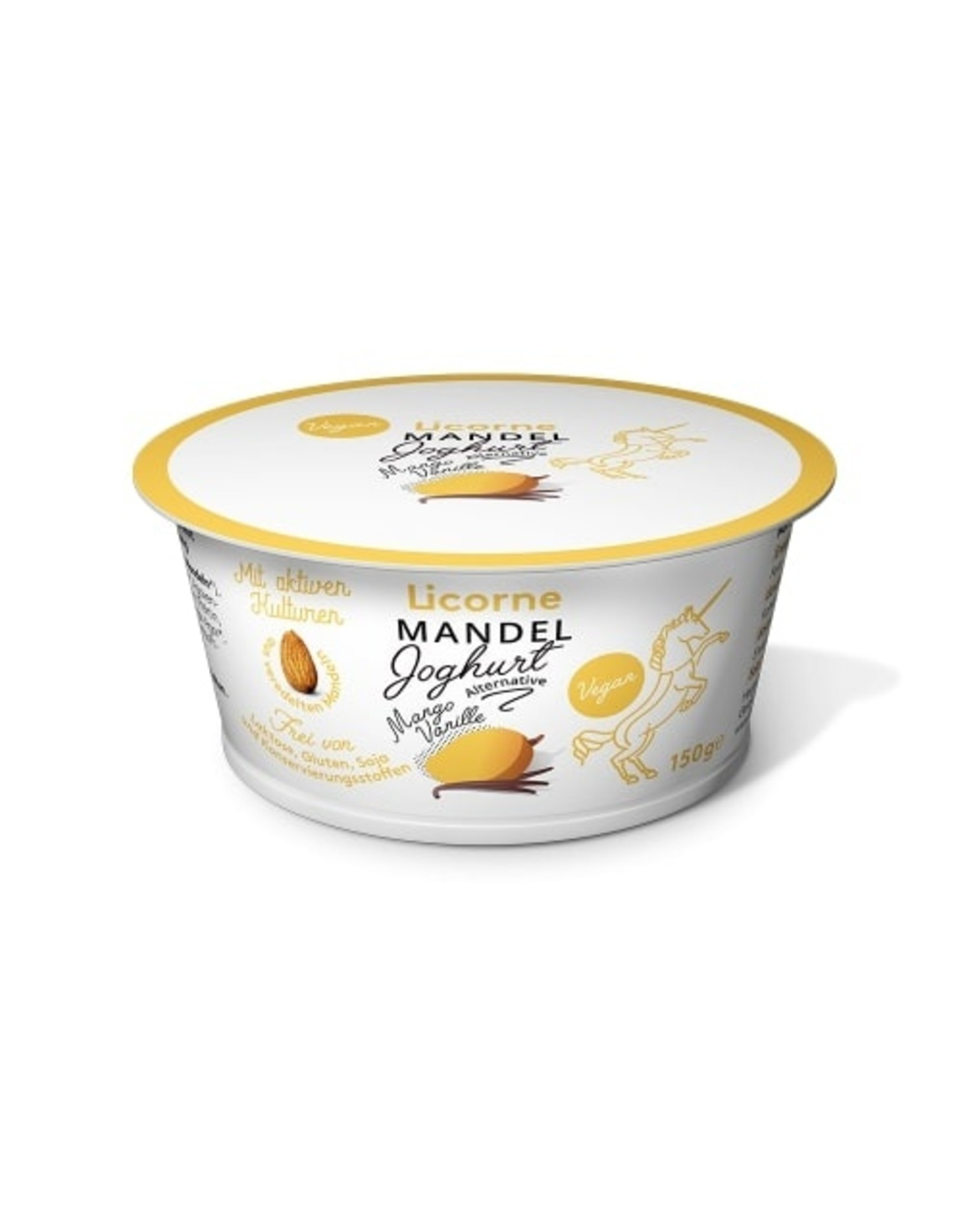 Yogur de Almendra Natural Vegano Mango-Vanilla 150g