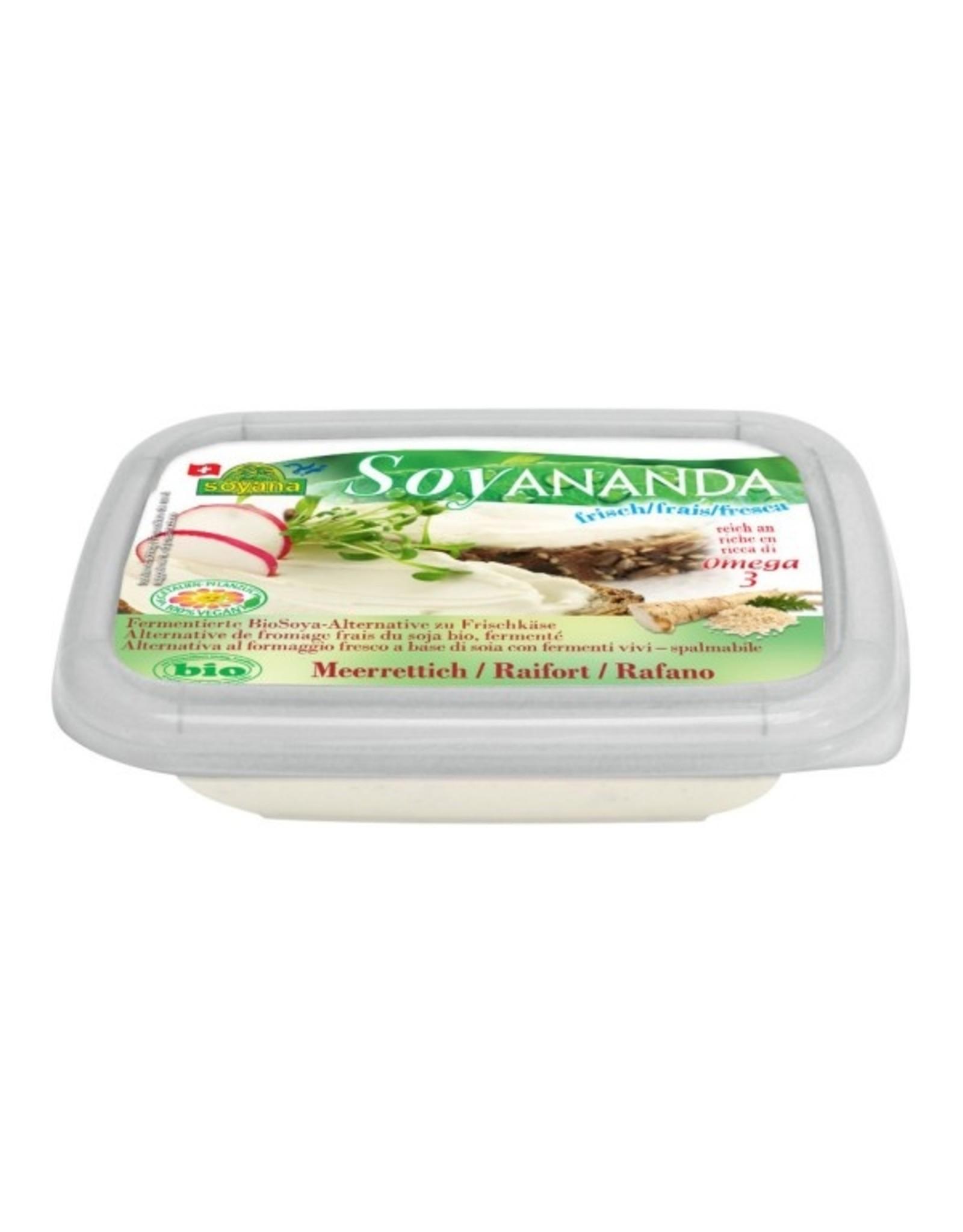 Soyana Queso Crema de Rábano Picante Vegano 140g