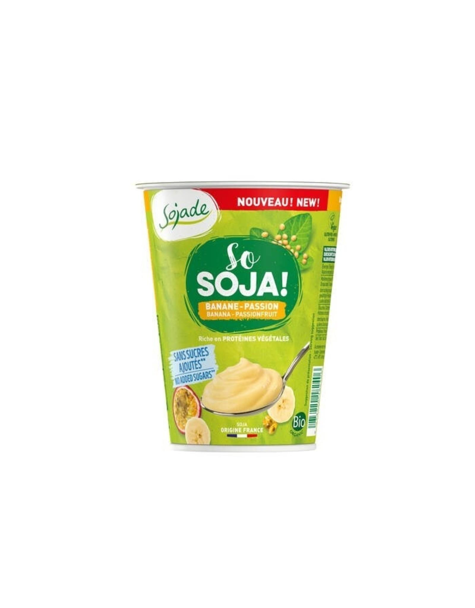 SOJADE So Soja Spezialität Banane-Maracuja ohne Zuckerzusatz 400g