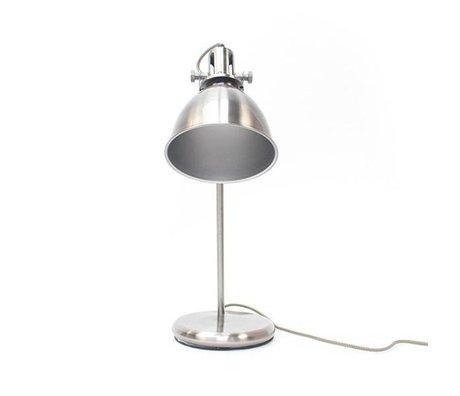 LEF collections Tafellamp spot antiek zilver metaal 18x29x57cm