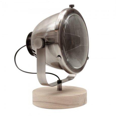 LEF collections Lamp multifunctional antiek zilver metaal hout 31x23x33cm