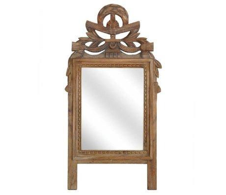 HK-living Spiegel handgesneden teakhout 42x90x5cm
