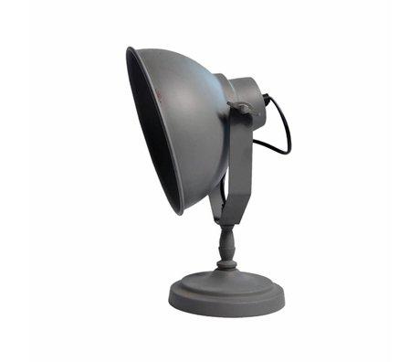 LEF collections Tafellamp urban steengrijs metaal 26x18x32cm