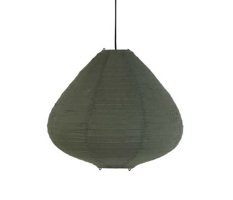 HK-living Lampion leger groen katoen Ø65x58cm