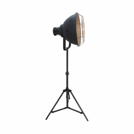 LEF collections Vloerlamp max zwart metaal 51x40x165cm