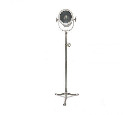 LEF collections Vloerlamp raw zilver nikkel shiny metaal 50x50x135-155cm