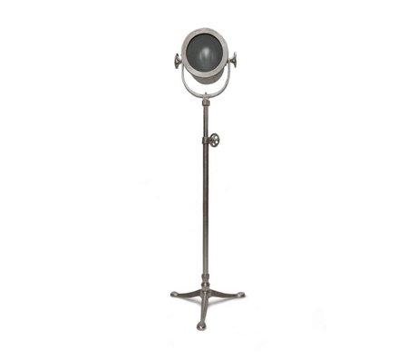 LEF collections Vloerlamp raw zilver nikkel antiek metaal 50x50x135-155cm