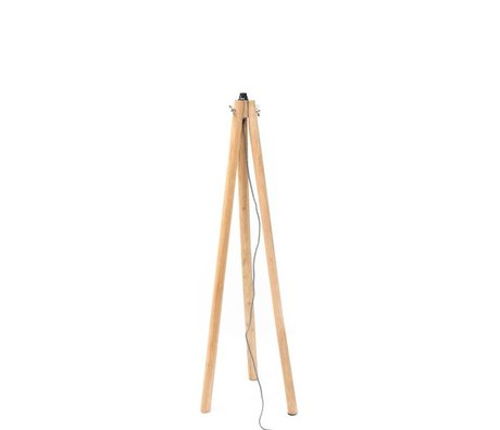 LEF collections Vloerlamp tree bruin hout 44x44x124cm
