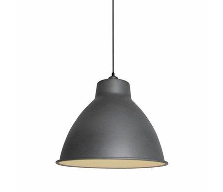 LEF collections Hanglamp dome grijs mat metaal 42x42x36cm