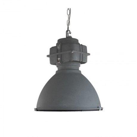 LEF collections Hanglamp Heavy duty donker grijs metaal 48x48x55cm