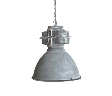 LEF collections Hanglamp heavy duty licht grijs metaal 48x48x55cm