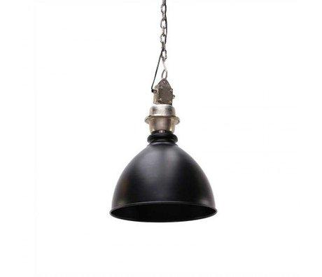 LEF collections Hanglamp Clinton zwart metaal 40x40x47cm