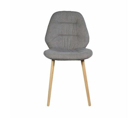 LEF collections Eetkamerstoel Vita grijs textiel 50x56x90cm