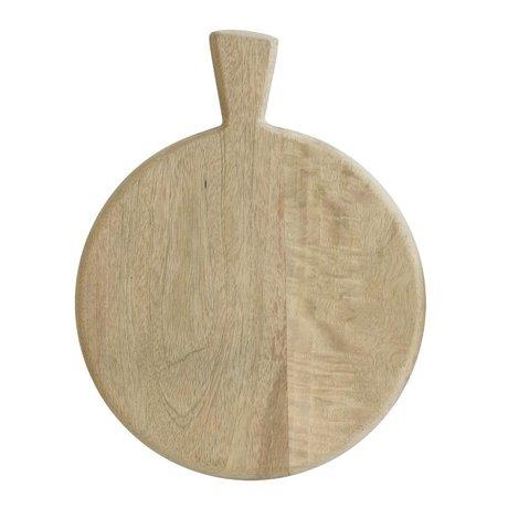 HK-living Broodplank bruin mango hout 22x29cm