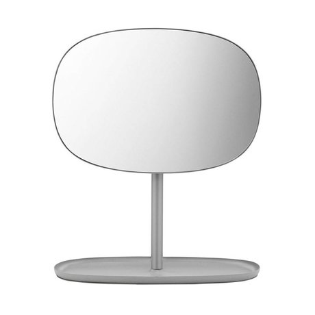 Normann Copenhagen Spiegeltje Flip Mirror grijs staal 28x19,5x34,5cm