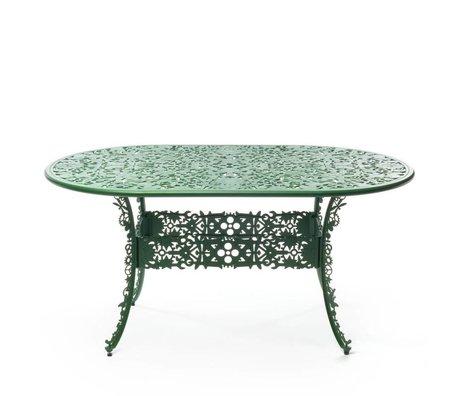 Seletti Tafel Industry groen aluminium 152x90x74cm