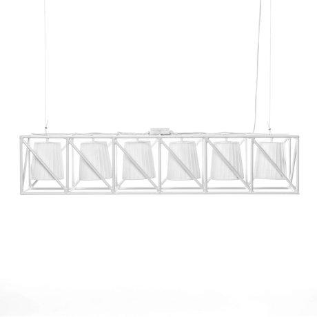 Seletti Hanglamp Multilamp Line wit metaal 103x22x22cm