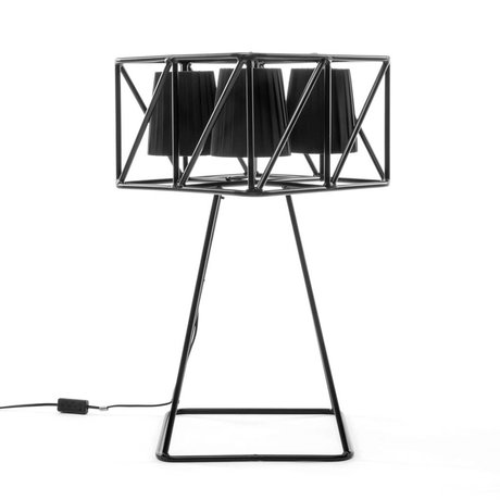 Seletti Tafellamp Multilamp Table zwart metaal 35x35x66cm