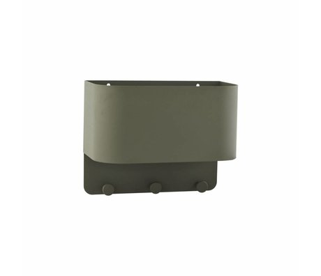 Housedoctor Kapstok Pock groen metaal 30x15x24cm