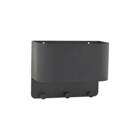 Housedoctor Kapstok Pock zwart metaal 30x15x24cm