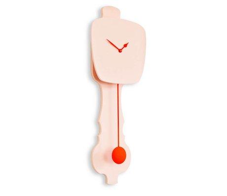 KLOQ Klok roze oranje hout 75,5x26,2x8cm