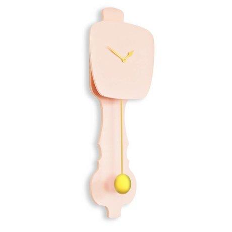 KLOQ Klok roze, goud hout 75,5x26,2x8cm