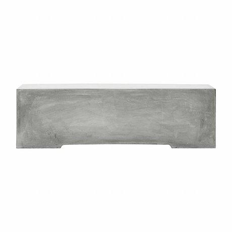 Housedoctor Bank Gallery grijs glasvezel klei 130x30x38cm
