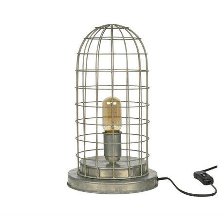 BePureHome Tafellamp Hive cage zilver metaal 37xØ20cm