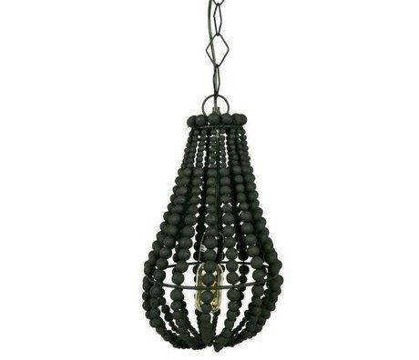 BePureHome Hanglamp Funale kroonluchter zwart hout S 28xØ23cm
