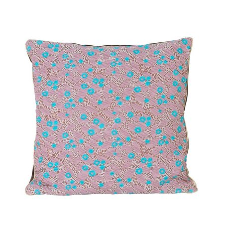 Ferm Living Sierkussen Flower roze textiel 40x40cm