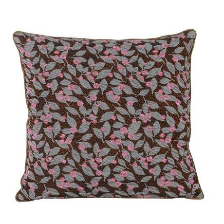 Ferm Living Sierkussen Flower roest bruin textiel 40x40cm