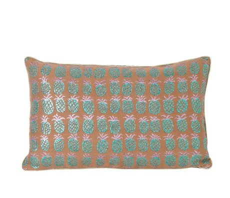 Ferm Living Sierkussen Pineapple multicolour textiel 40x25cm