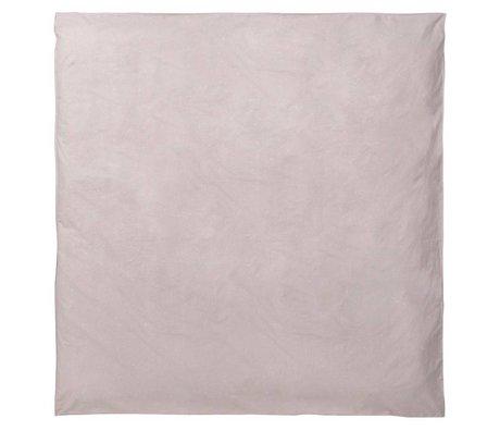 Ferm Living Dekbedovertrek Hush Milkyway licht roze organisch katoen 200x200cm