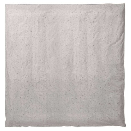 Ferm Living Dekbedovertrek Hush Milkyway cream organisch katoen 200x200cm
