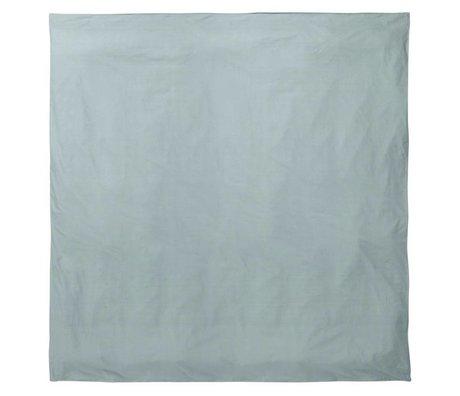 Ferm Living Dekbedovertrek Hush dusty blauw organisch katoen 200x200cm