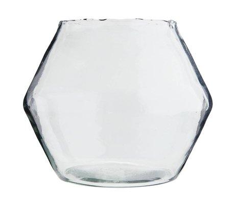 Madam Stoltz Vaas transparant glas Ø25x28cm