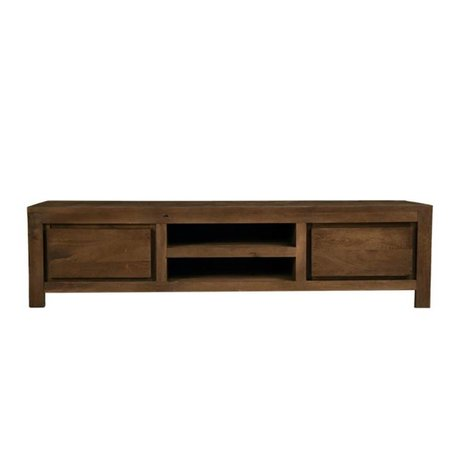 LEF collections TV meubel Brugge bruin hout 160x45x40cm