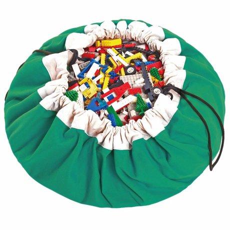 Play & go Opbergzak/speelkleed Classic Green groen katoen ø140cm