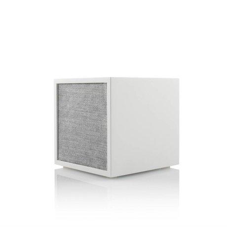 Tivoli Audio Speaker Cube wit grijs hout 11,7x11x11cm