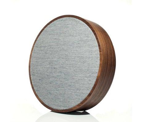 Tivoli Audio Speaker Orb bruin grijs hout ø 23x5cm