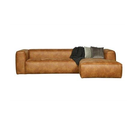 LEF collections Hoekbank Bean longchair rechts cognac bruin leer 305x73x96/175cm