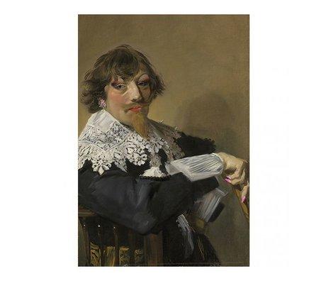 Arty Shock Schilderij Frans Hals - Portret van een man L multicolor plexiglas 100x150cm