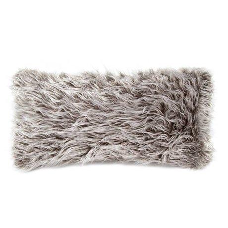 Vetsak Sierkussen Flokati grijs polyester 60x30cm