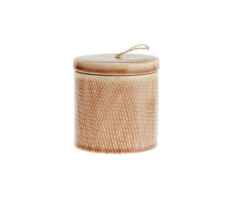 Madam Stoltz Voorraadpotje dusty roze keramiek 10x11cm