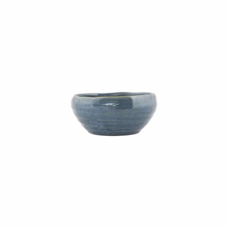 Housedoctor Schaaltje Nord blauw aardewerk ø14,5x6,5cm
