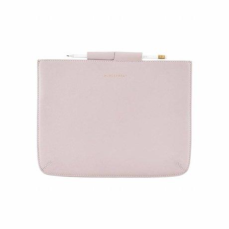 Housedoctor Cover Ipad roze leer/katoen 29x22cm