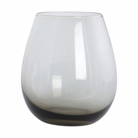 Housedoctor Glas Ball grijs glas h:10 cm